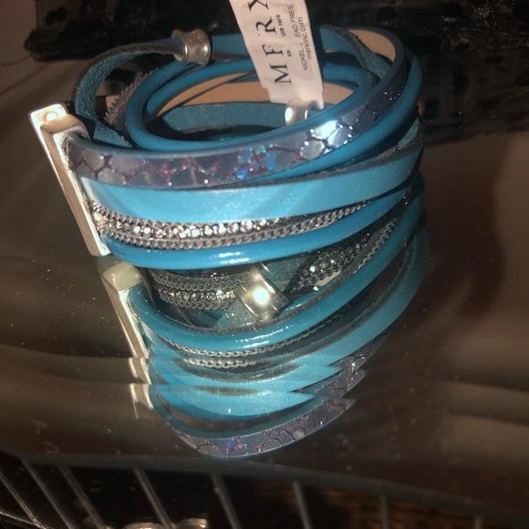 Merx Inc Blue wrap multi layer bracelet
